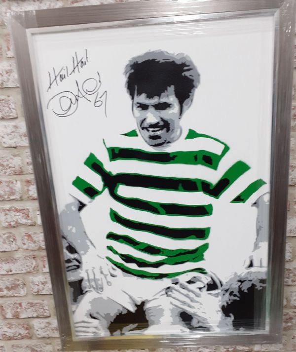 Bertie Auld Signed Canvas Print